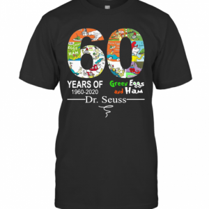 60 Years Of Green Eggs And Ham Dr. Seuss Signature T-Shirt Classic Men's T-shirt