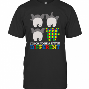 Autism Elephant It's Ok To Be A Little Different T-Shirt Classic Men's T-shirt