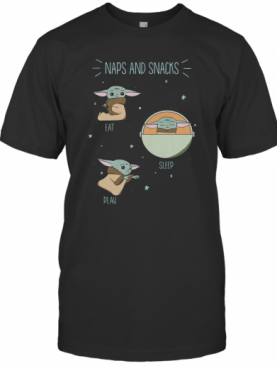 Star Wars The Mandalorian The Child Naps And Snacks T-Shirt