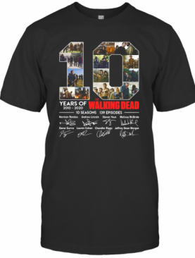 10 Years Of The Walking Dead Signature T-Shirt