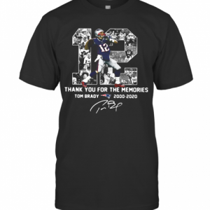 12 Tom Brady 2000 2020 Thank You For The Memories Signature T-Shirt Classic Men's T-shirt