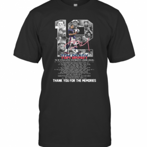 12 Tom Brady New England Patriots 2000 2020 Signature Thank You For The Memories T-Shirt Classic Men's T-shirt
