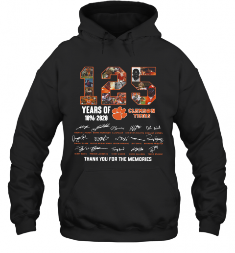 125 Years Of Clemson Tigers 1896 2020 Thank You For The Memories T-Shirt Unisex Hoodie
