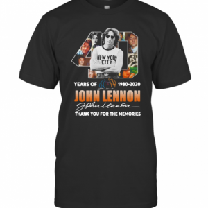 40Th Years Of 1980 2020 John Lennon Signature Thank You For The Memories T-Shirt Classic Men's T-shirt