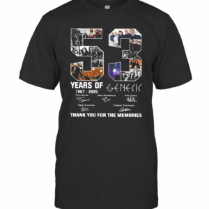 53 Years Of 1967 2020 Genesis Thank You For The Memories T-Shirt Classic Men's T-shirt