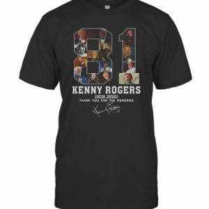 81 Years Of Kenny Rogers 1938 2020 Thank You For The Memories T-Shirt Classic Men's T-shirt