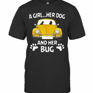 A Girl Her Dog And Her Bug Volkswagen Beetle T-Shirt Classic Men's T-shirt