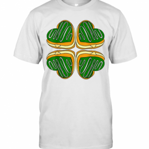 Awesome Four Leaf Clover Donut St Patricks Day Funny Irish T-Shirt Classic Men's T-shirt