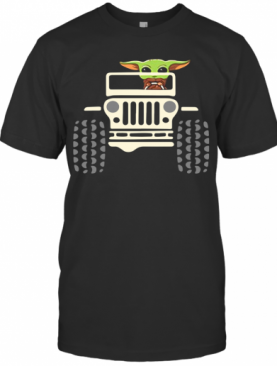 Baby Yoda Driving Jeep T-Shirt