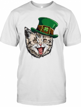 Cat Leprechaun St Patricks Cattys Catricks Day T-Shirt