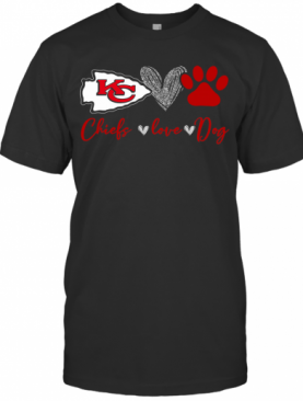 Chieds Peace Love Dog T-Shirt