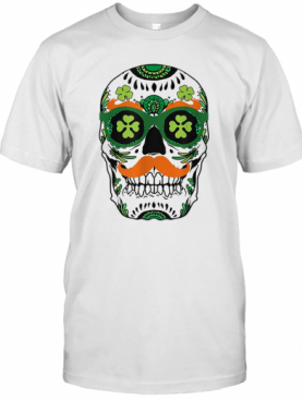 Pretty Sugar Skull St. Patrick'S Day St. Pat Day Skeleton T-Shirt