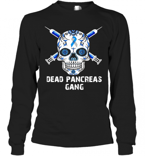 Skull Dead Pancreas Gang T-Shirt Long Sleeved T-shirt