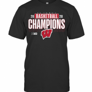 Wisconsin Badgers 2020 Big Ten Men'S Basketball Champions T-Shirt Classic Men's T-shirt