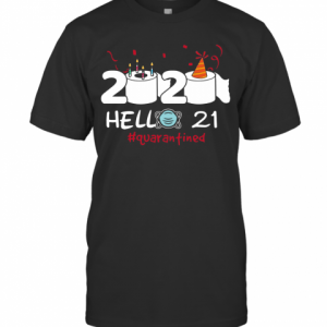 020 Hello 21 Toilet Paper Birthday Cake Quarantined Social Distancing T-Shirt Classic Men's T-shirt