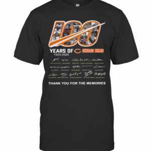 100 Years Of Chicago Bears Thank You For The Memories Signatures T-Shirt Classic Men's T-shirt