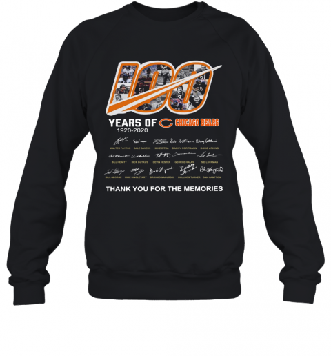 100 Years Of Chicago Bears Thank You For The Memories Signatures T-Shirt Unisex Sweatshirt