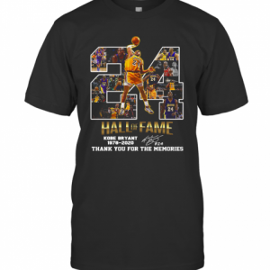 24 Hall Of Fame Kobe Bryant 1978 2020 Thank You For The Memories Signatures T-Shirt Classic Men's T-shirt