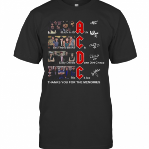 AC DC Back In Black Let There Be Rock Signature Thank You For The Memories T-Shirt Classic Men's T-shirt