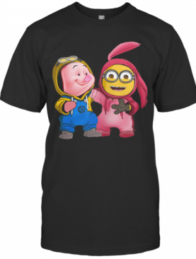 Baby Piglet And Minions T-Shirt