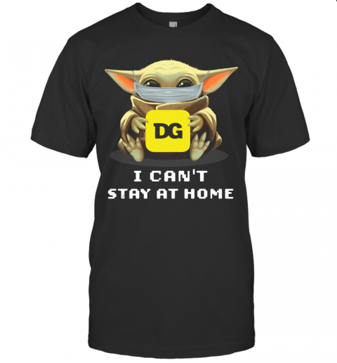 Baby Yoda Face Mask Hug Dollar General I Can't Stay At Home T-Shirt Classic Men's T-shirt