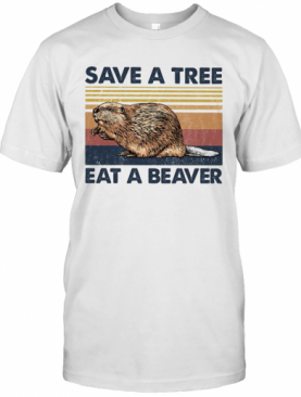 Punxsutawney Phil Save A Tree Eat A Beaver Vintage T-Shirt