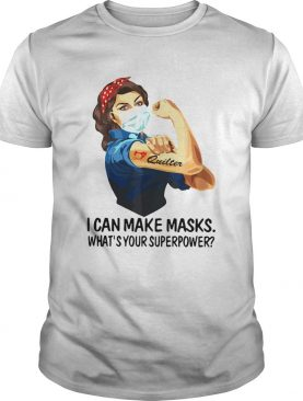 Strong Woman Tattoo Quilter I Can Make Masks Whats Your Superpower shirt