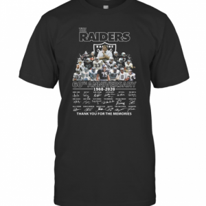 The Raiders 60Th Anniversary 1960 2020 Thank You For The Memories T-Shirt Classic Men's T-shirt