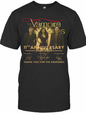 The Vampire Diaries 11Th Anniversary 2009 2020 Signatures Thank You For The Memories T-Shirt