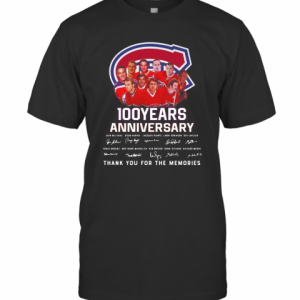 100 Years Anniversary Montreal Canadiens Thank You For The Memories T-Shirt Classic Men's T-shirt