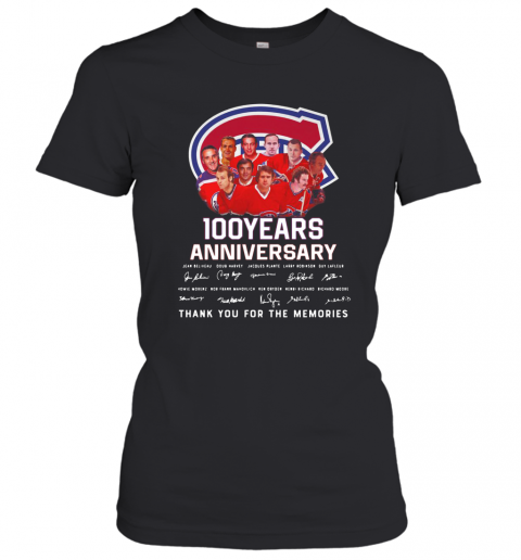 100 Years Anniversary Montreal Canadiens Thank You For The Memories T-Shirt Classic Women's T-shirt