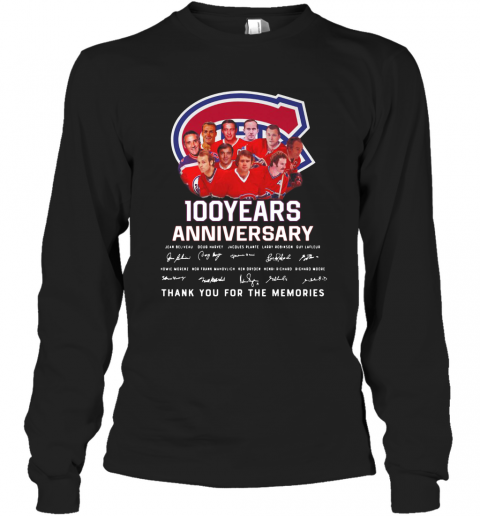 100 Years Anniversary Montreal Canadiens Thank You For The Memories T-Shirt Long Sleeved T-shirt