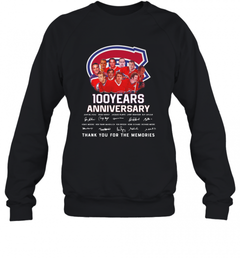 100 Years Anniversary Montreal Canadiens Thank You For The Memories T-Shirt Unisex Sweatshirt