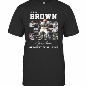 32 Jim Brown Greatest Of All Time Signature T-Shirt Classic Men's T-shirt