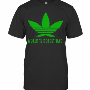 Adidas Weed Cannabis World'S Best Dad T-Shirt Classic Men's T-shirt
