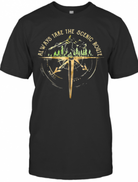 Bigfoot Always Take The Scenic Route T-Shirt