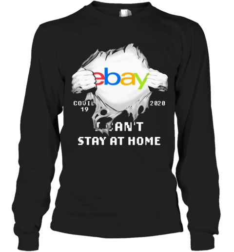 Blood Inside Me Ebay COVID 19 2020 I Can'T Stay At Home T-Shirt Long Sleeved T-shirt