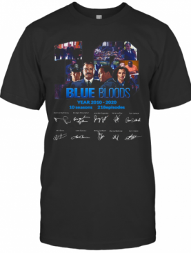 Blue Bloods Year 2010 2020 10 Seasons 218 Episodes T-Shirt