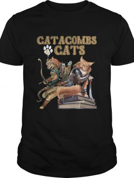 Catacombs and paw cats books shirt