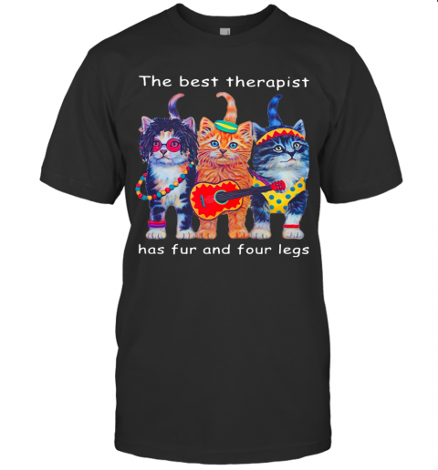 Cats The Best Therapist Has Fur And Four Legs T-Shirt Classic Men's T-shirt
