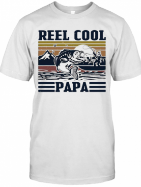 Father'S Day Reel Cool Papa Fishing Vintage T-Shirt