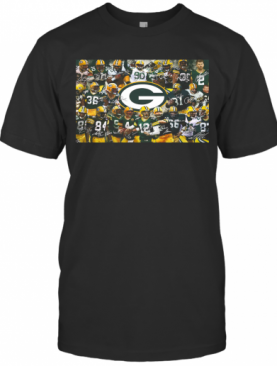 Green Bay Packers Football Team Players Signatures T-Shirt