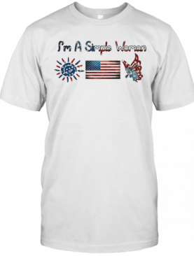 I'M A Simple Woman American Flag Veteran Independence Day T-Shirt
