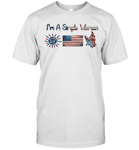 I'M A Simple Woman American Flag Veteran Independence Day T-Shirt Classic Men's T-shirt