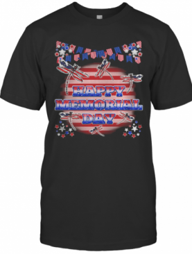 Independence Day Dragonflys Happy Memorial Day T-Shirt