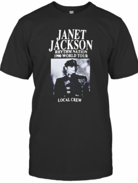 Janet Jackson Rhythm Nation 1990 World Tour Local Crew Vintage T-Shirt