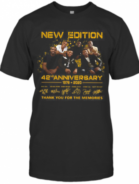 New Edition 42ND Anniversary 1978 2020 Thank You For The Memories T-Shirt
