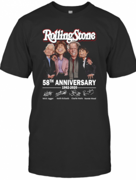 Rolling Stone 58Th Anniversary 1962 2020 Signatures T-Shirt
