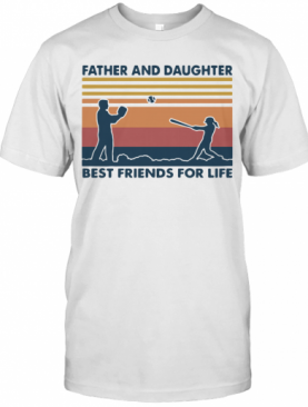 Softball Father And Daughter Best Friends For Life Vintage T-Shirt
