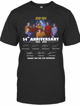 Star Trek 54Th Anniversary 1966 2020 Thank You For The Memories T-Shirt